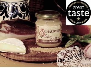 Erdész - erdei gombás mustár     Csillagot nyert az angliai     prémium élelmiszerek világversenyén     Great Taste Awards 2019.